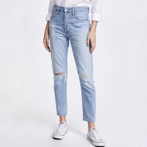 Citizens of Humanity Liya High Rise Classic Fit Light Wash Crop Jeans, 31